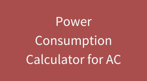 Power and Electricity Consumption Calculator for AC