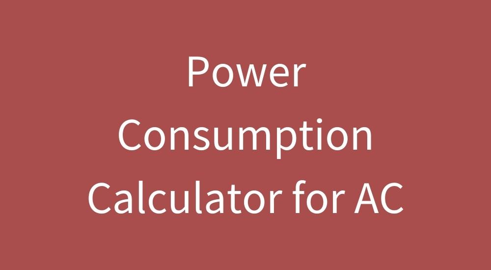 ac power consumption calculator
