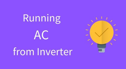 Can Air Conditioner run using an Inverter