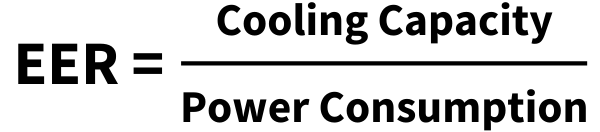 formula for power consumption of AC