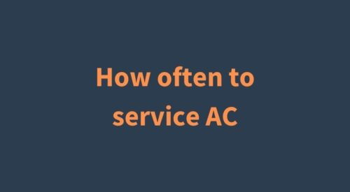 How often to service your home AC